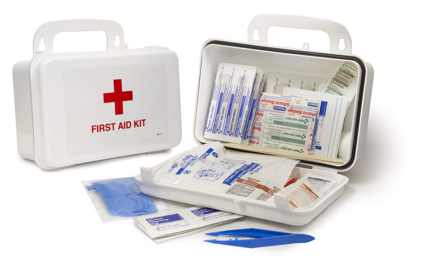 School Health 10-Person First Aid Kit, 62 Pieces
