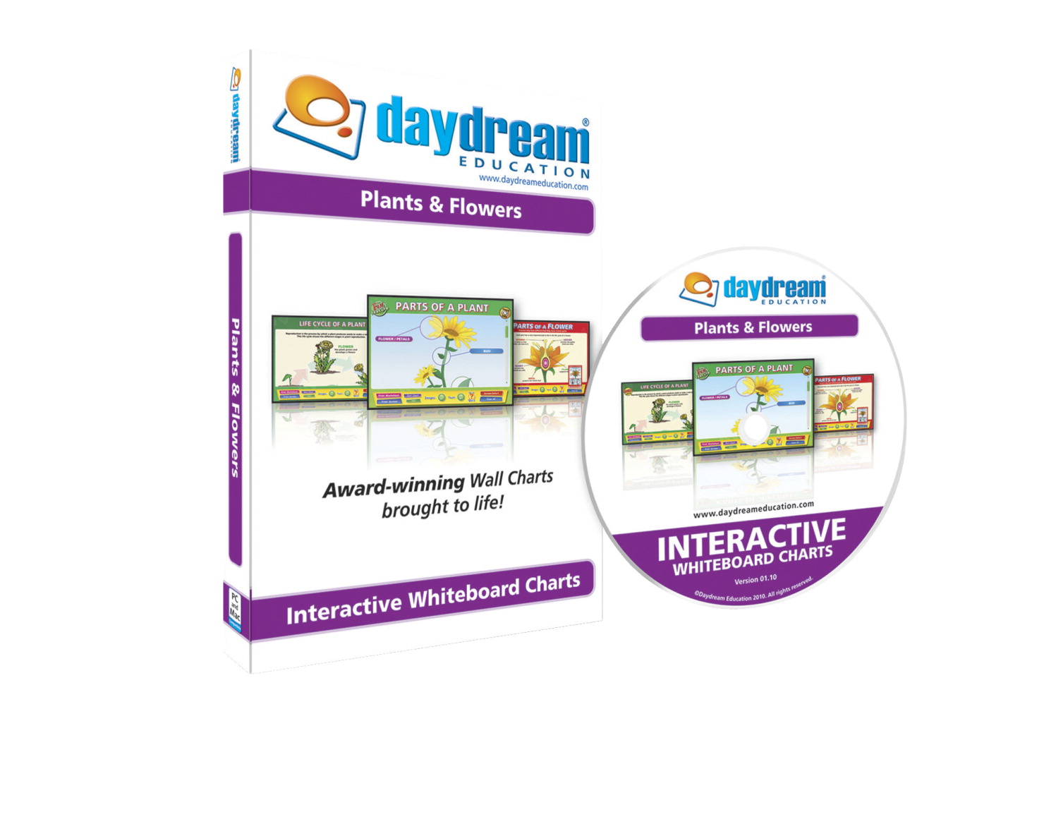 Daydream Education Interactive Whiteboard Chart, Plants and Flowers