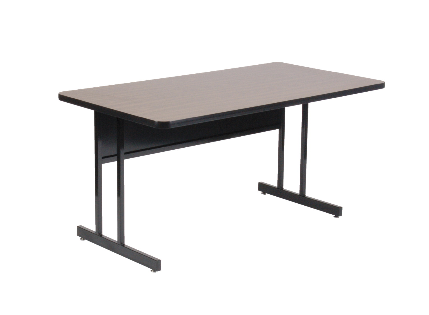 Correll Rectangle Laminate Top Desk Height Computer Table, 24 x 72 x 29 Inches, Various Options