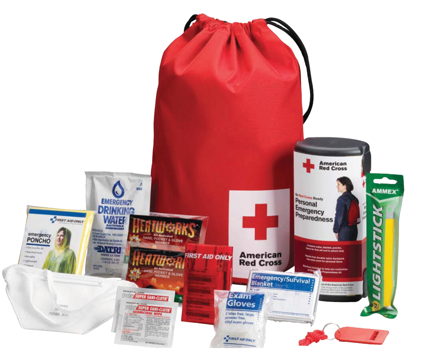 School Health Emergency Pack W-Bag First Aid Kit with Bag