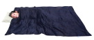 School Specialty Small Sleep Tight Weighted Blanket with Scoop Neck, 36 in W X 42 in L, 8 lb, Corduroy, Pet Pellets, Navy