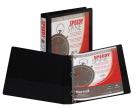Samsill Speedy Spine PVC Round Ring View Binder, 1 in, 225 Sheet, 11 X 8-1/2 in, Black