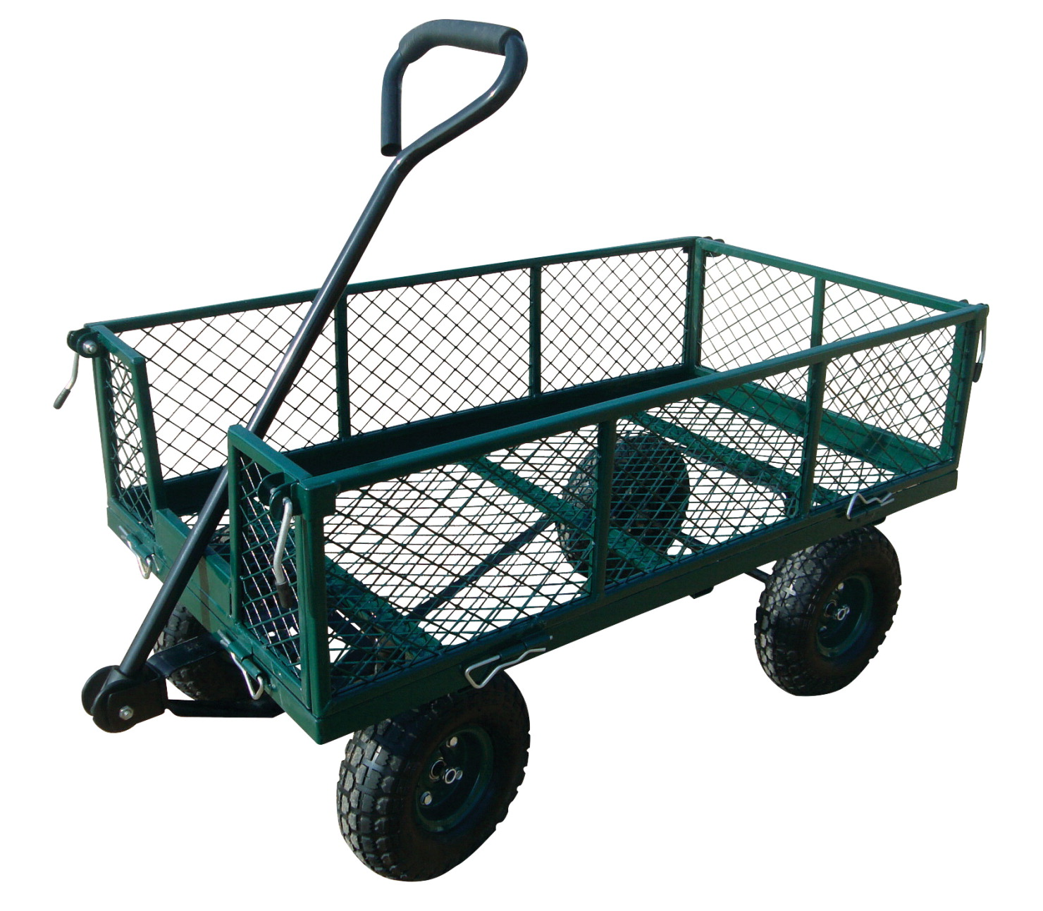Sandusky Lee Heavy Duty Crate Hand Wagon, 18 W x 34 D x 21-3/4 H inches, 400 lb, Capacity, Green, Powder Coated