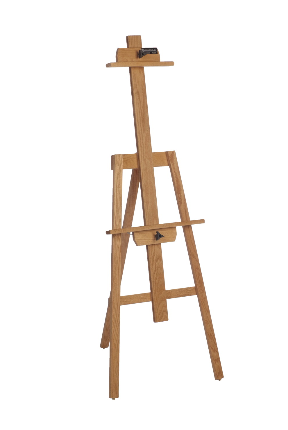 American Easel Yahzi A-Frame Easel, 60 in H, 21 X 20 in Base, Northern Oak, Red, Golden