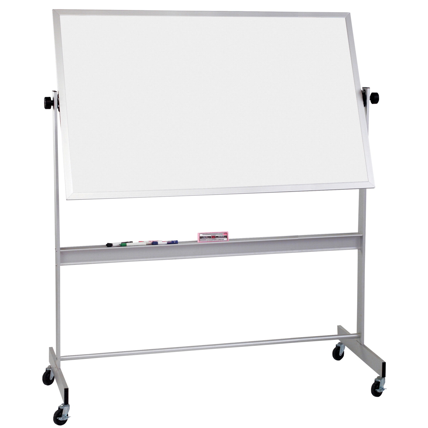 Best-Rite Deluxe Reversible Board, 4 H x 8 W ft, Aluminum Frame, Porcelain Markerboard