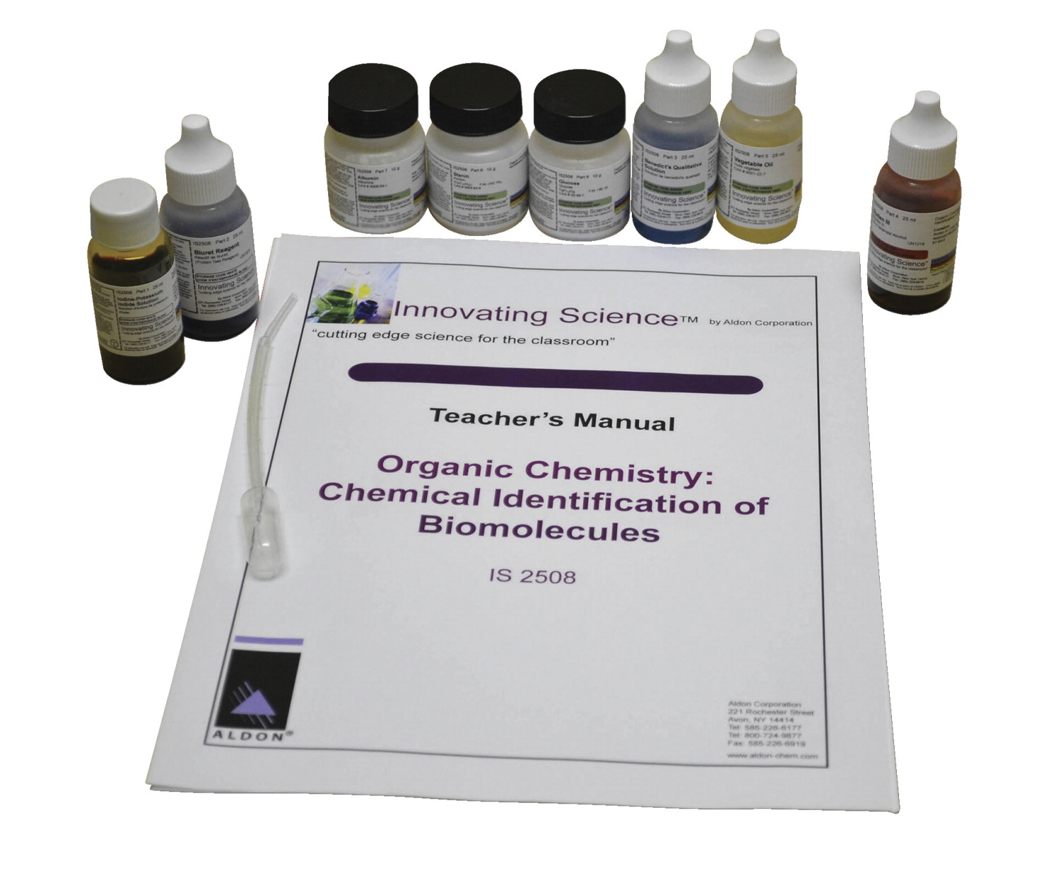 Innovating Science Biomolecules Identification Kit, Assorted Colors