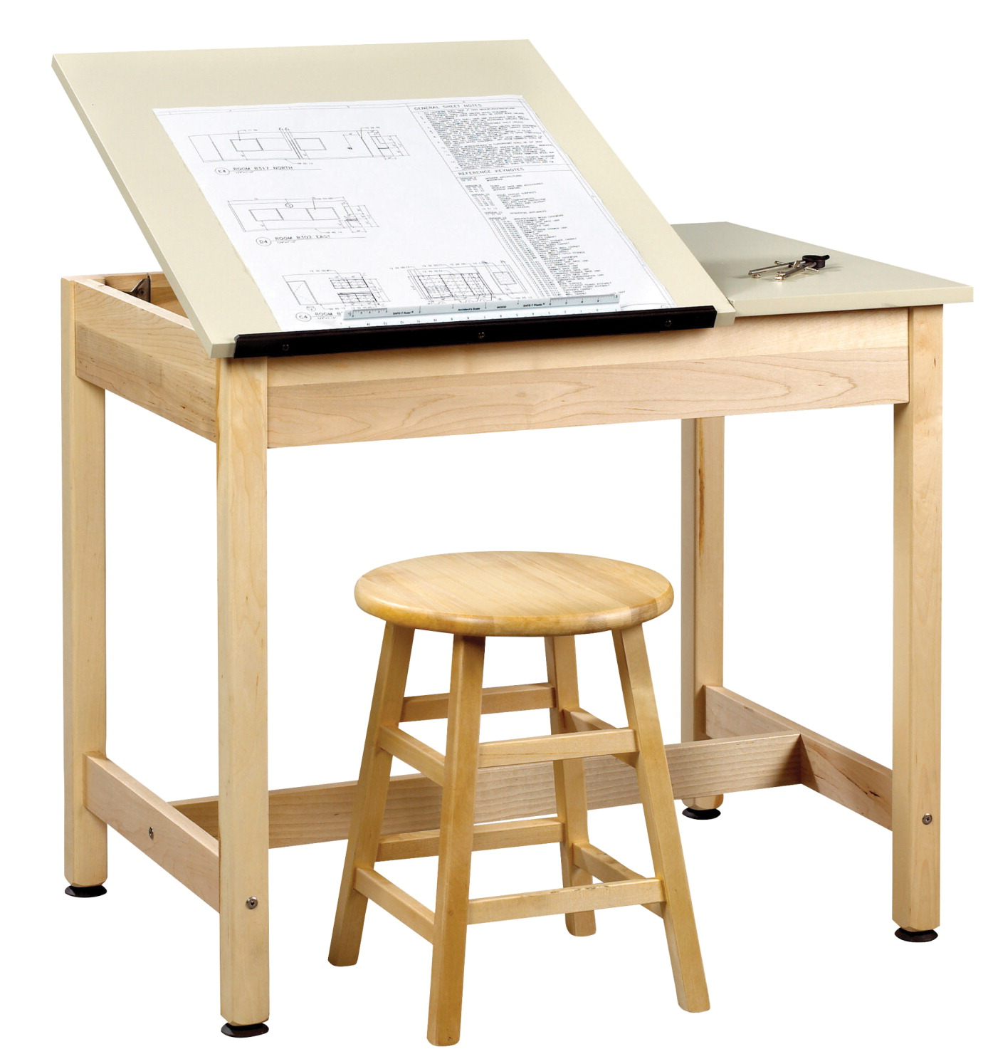 Diversified Woodcrafts 2-Piece Drafting Table, 36 x 24 x 30 Inches, Maple and Plastic