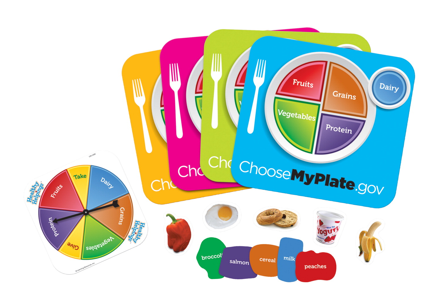 Learning Resources Healthy Helpings MyPlate Game, Set of 55