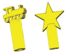 School Specialty Oral Motor Chew Stixx Pencil Toppers - Train and Star - Set of 2 - Yellow