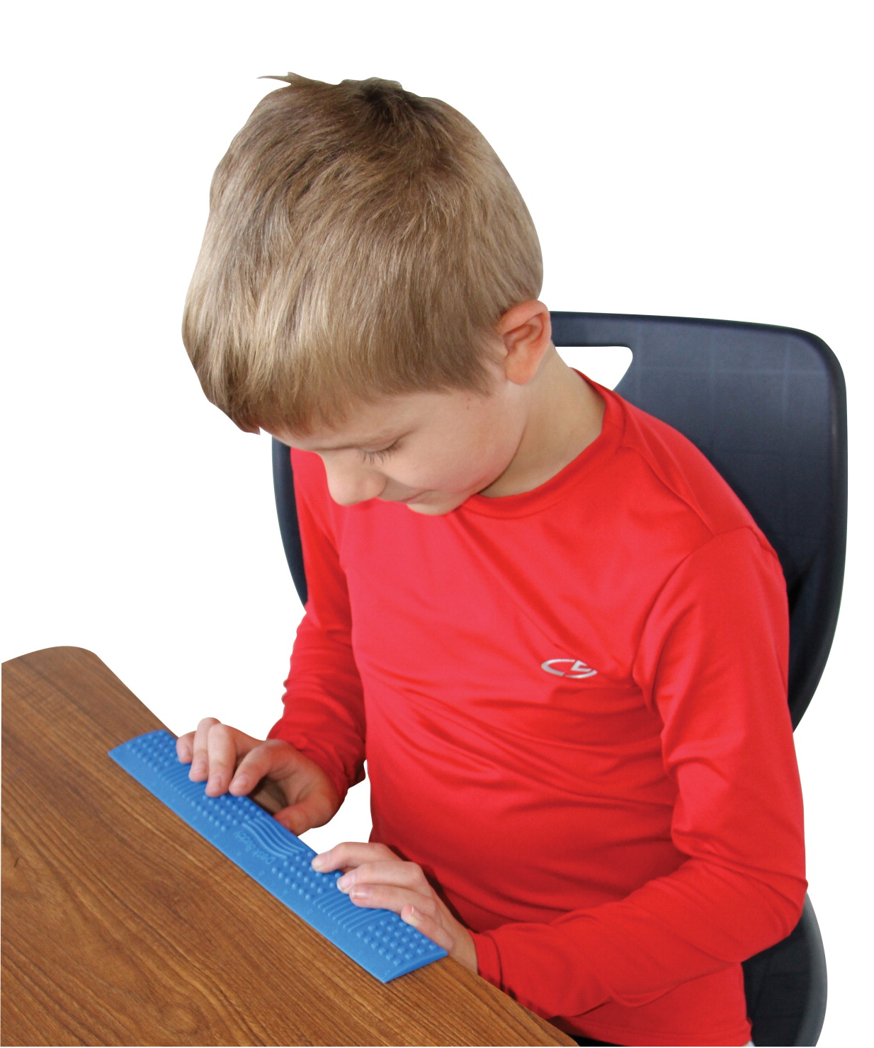 Sensory University Desk Buddy Multi-Textured Chewable Ruler, Assorted Colors