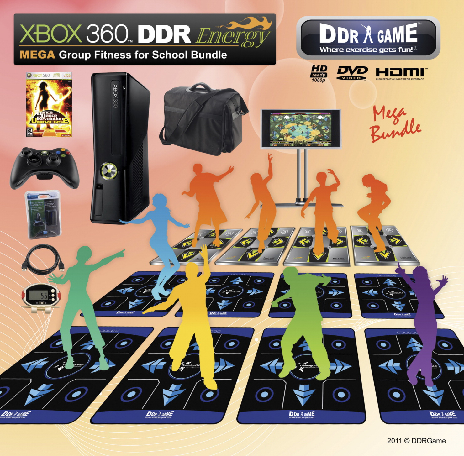 XBOX 360 DDR Energy MEGA Group Fitness for A Class Bundle
