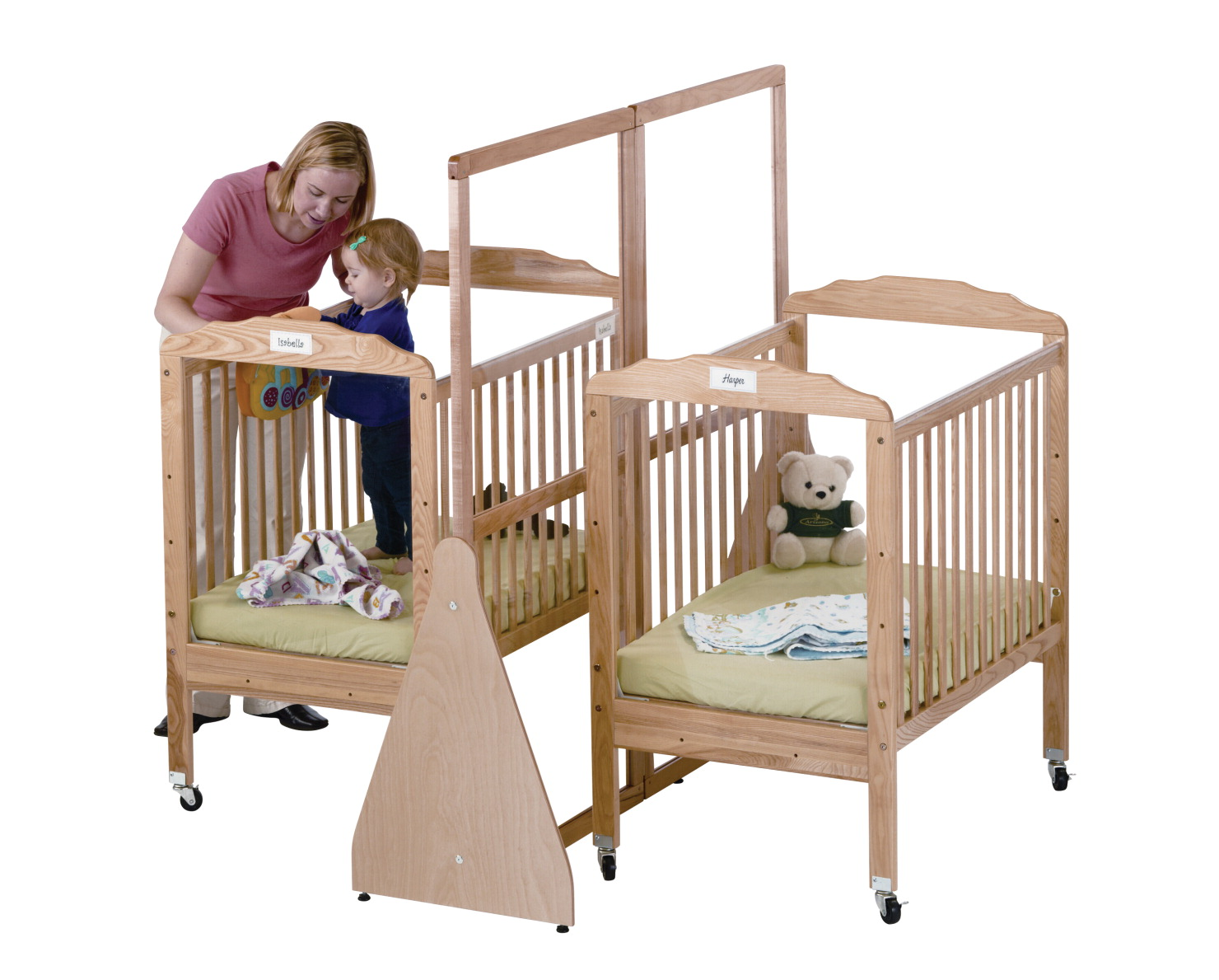 75 crib separator see thru crib dividers by jonti for Double decker crib