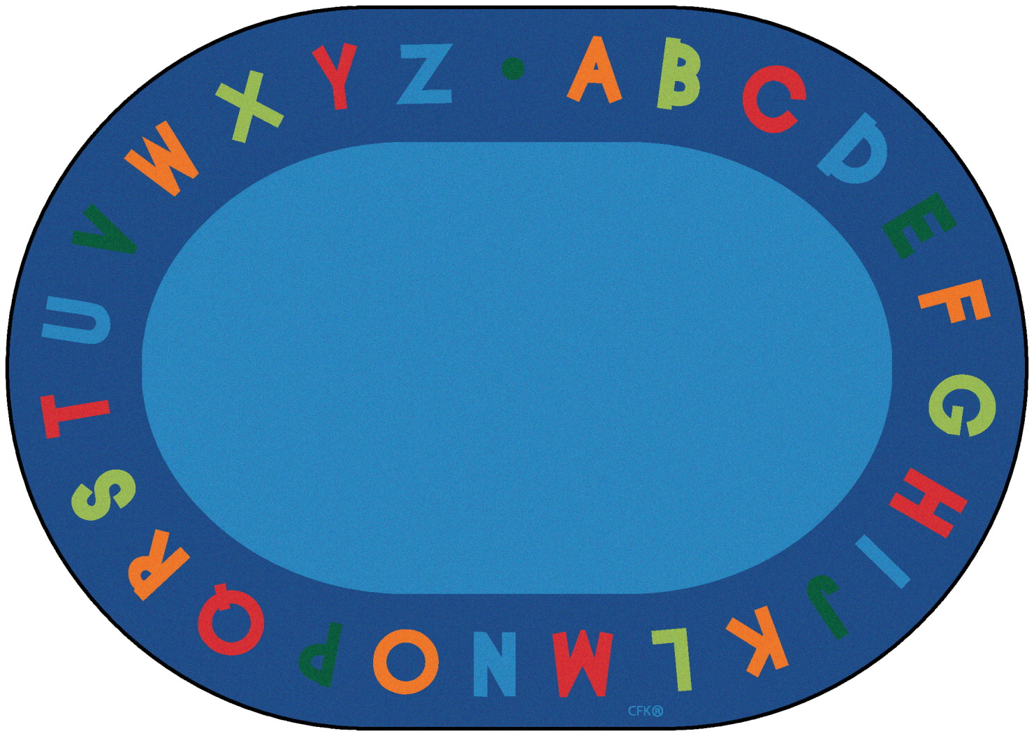 Carpets For Kids Alphabet Circletime Rug, 8 Feet 3 Inches x 11 Feet 8 Inches, Oval