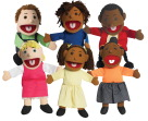 Children's Factory Ethnic Puppets, 15 Inch, Set of 6