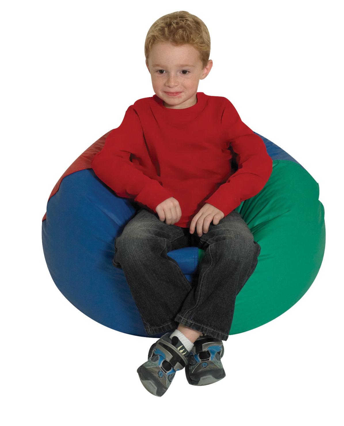 Children's Factory Premium Beanbag Chair, 26 in Dia, Vinyl, Green - Beanbag Chair - SCHOOL SPECIALTY MARKETPLACE