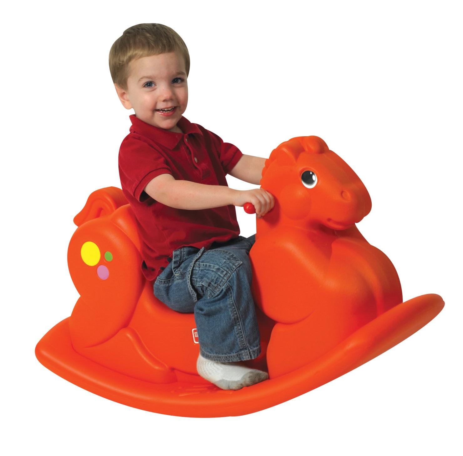 Riding Toys Age 5 : Children s factory rocking horse orange school