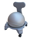 Aeromat Junior Ball Chair, 20 X 18-1/2 in, Gray