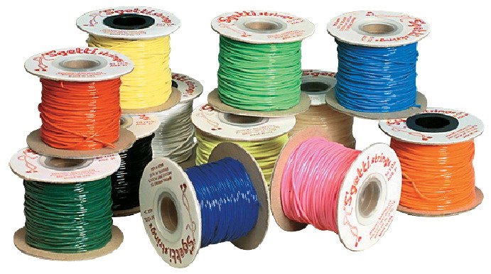 Pepperell Braiding S'Getti Plastic Round Lacing String, Assorted Colors, Set of 12