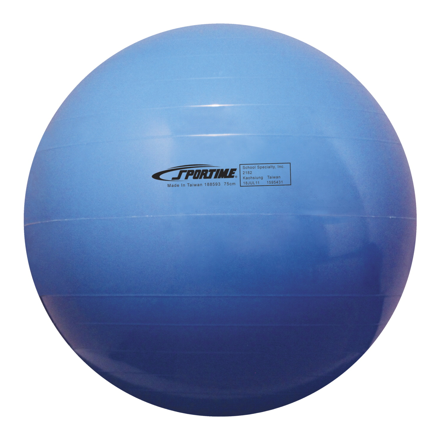 Sportime Economy Play and Exercise Ball, 17-1/2 Inches, Blue