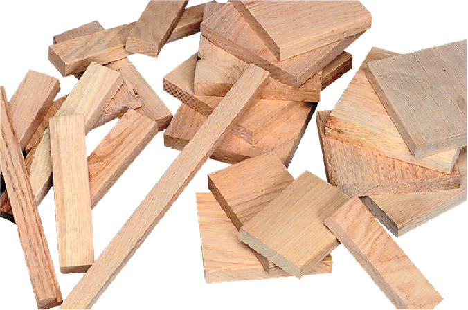 Jack Richeson Solid Oak Unfinished Wood Assortment, Natural, 20 Pounds