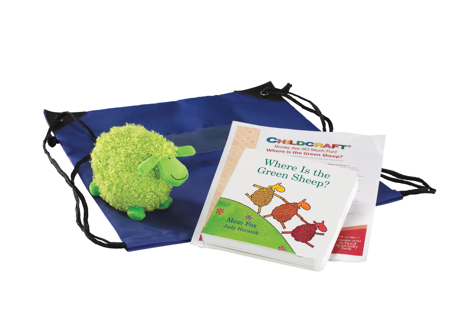 Childcraft Where Is the Green Sheep? Literacy Bag, Book, and Plush