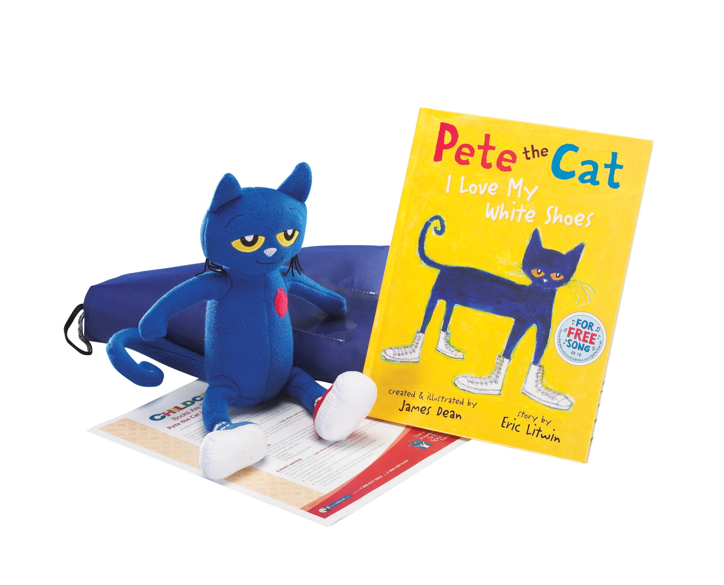 Childcraft Pete the Cat: I Love My White Shoes Literacy Bag, Book, and Plush