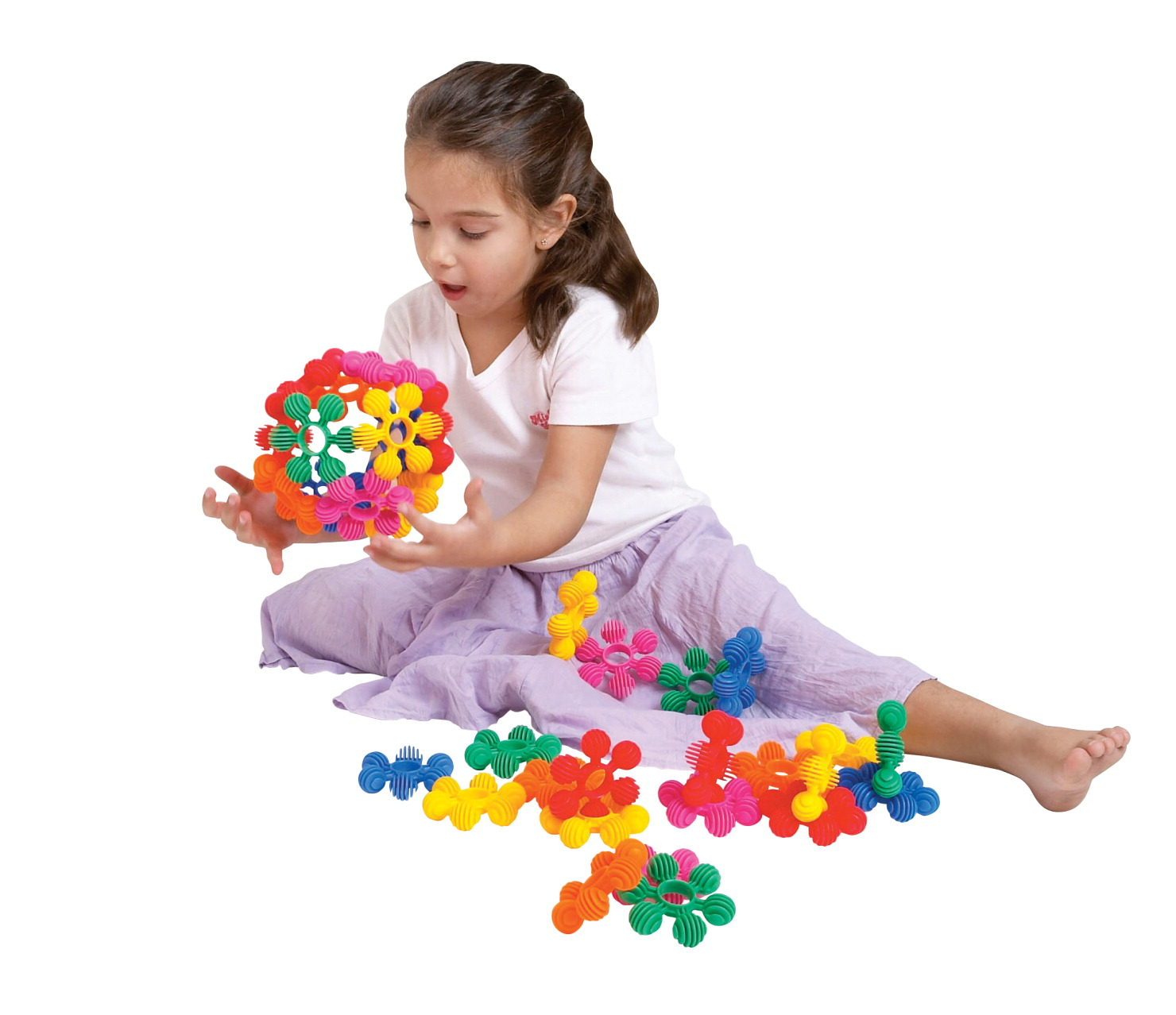Childcraft Toddler Manipulatives Mini Interstar Rings, Assorted Colors, Set of 40