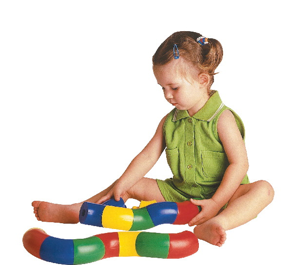 Childcraft Toddler Manipulative Roll and Twists, Assorted Colors, Set of 24