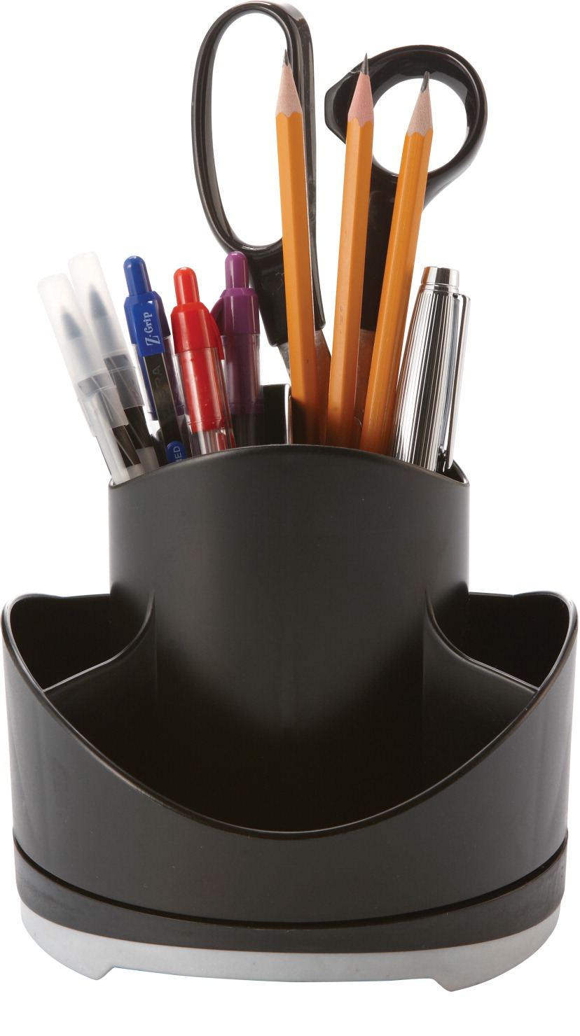 X Iceland Rotary Recycled Organizer Black Top With Gray Base