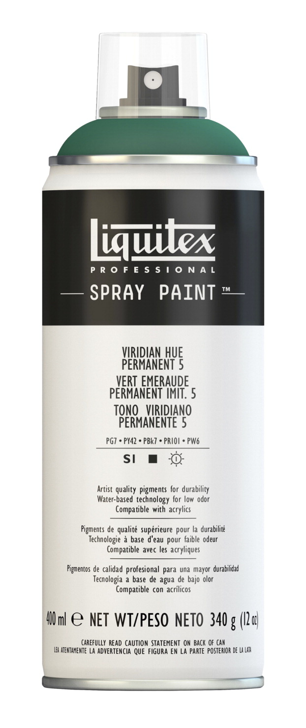 Liquitex Water Based Professional Spray Paint Viridian Permanent 5 School Specialty Marketplace