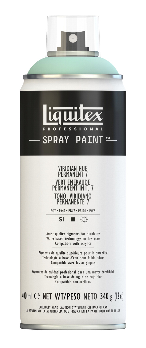 Liquitex Water Based Professional Spray Paint Viridian Permanent 7 School Specialty Marketplace