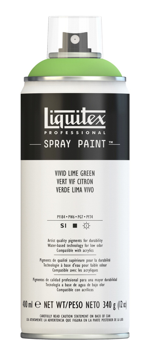 Liquitex Water Based Professional Spray Paint Vivid Lime Green School Specialty Marketplace