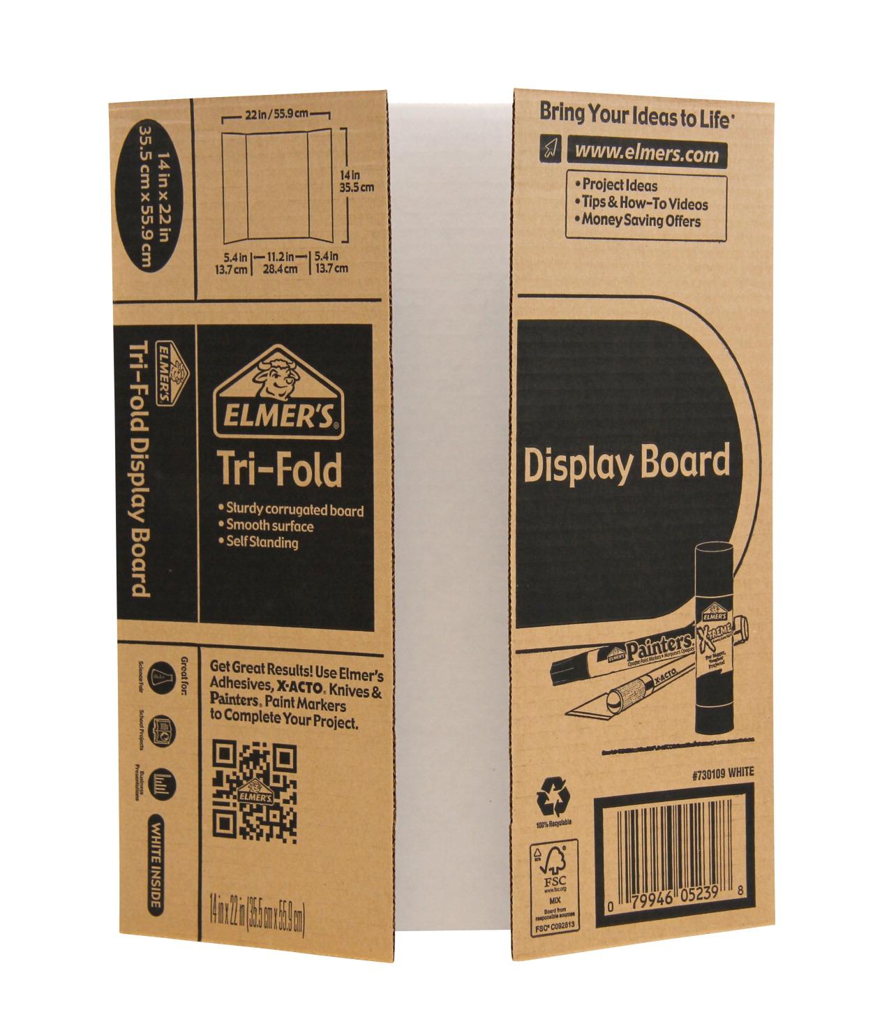 elmer s tri fold display board white soar life products