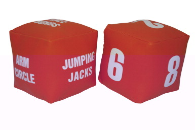 physical education fitness dice set  school specialty