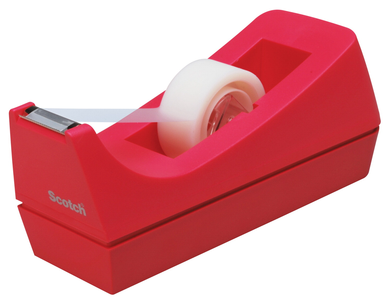 Scotch Classic High Impact Resistant Desktop Tape Dispenser with 1 in Core, 3/4 x 1500 in Tape, Pink