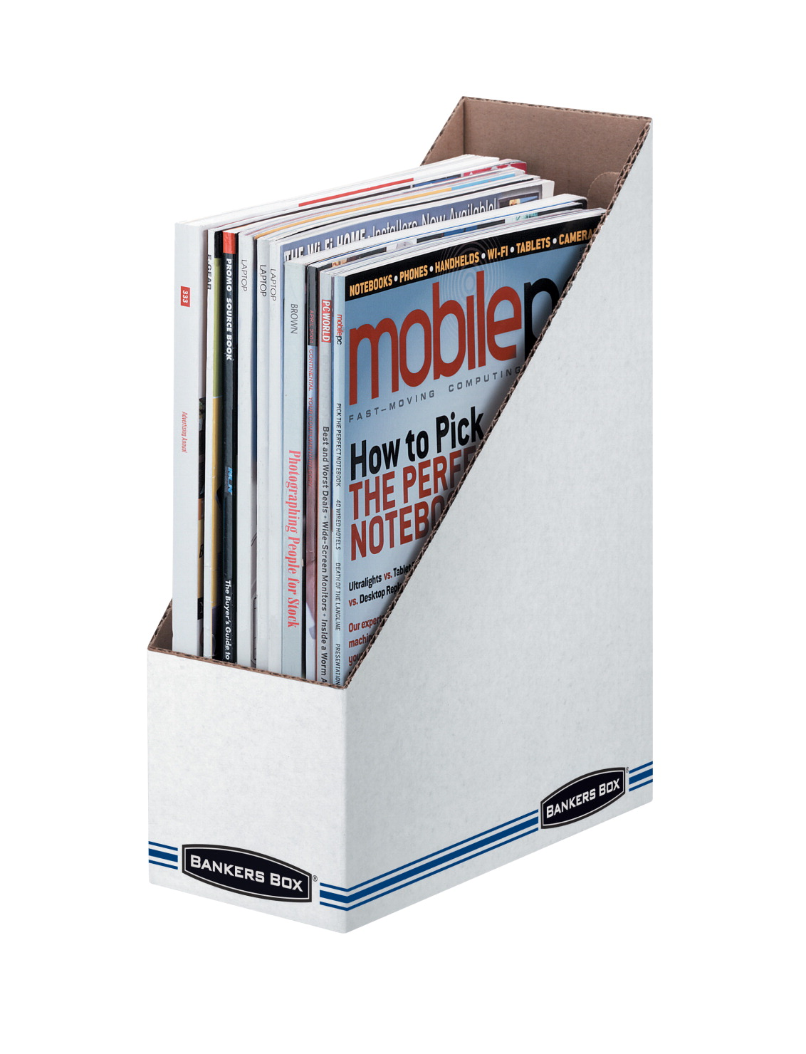 Bankers Box Letter Size Magazine File Holder, White/Blue - SOAR Life ...
