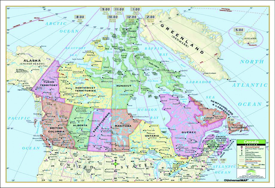 Map Of Canada Greenland And Iceland.Map School Specialty Canada