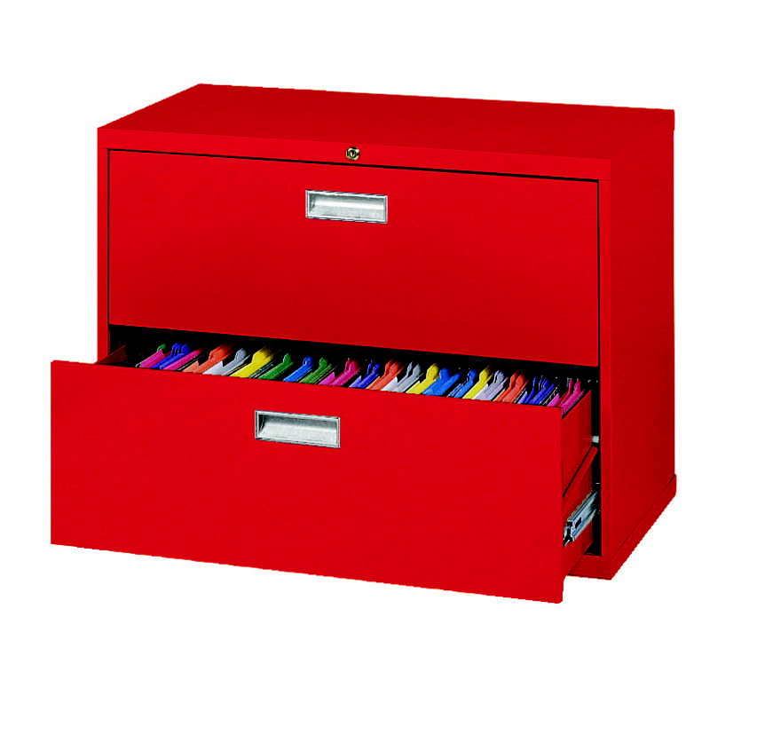 Sandusky Lee 600 Series 2 Drawer Lateral File Cabinet, 36 x 19-1/4 x 28-3/8 Inches, Various Options