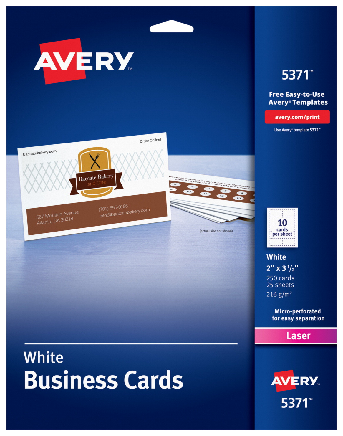 Avery Microperforated Business Cards For Laser Printers, White ...