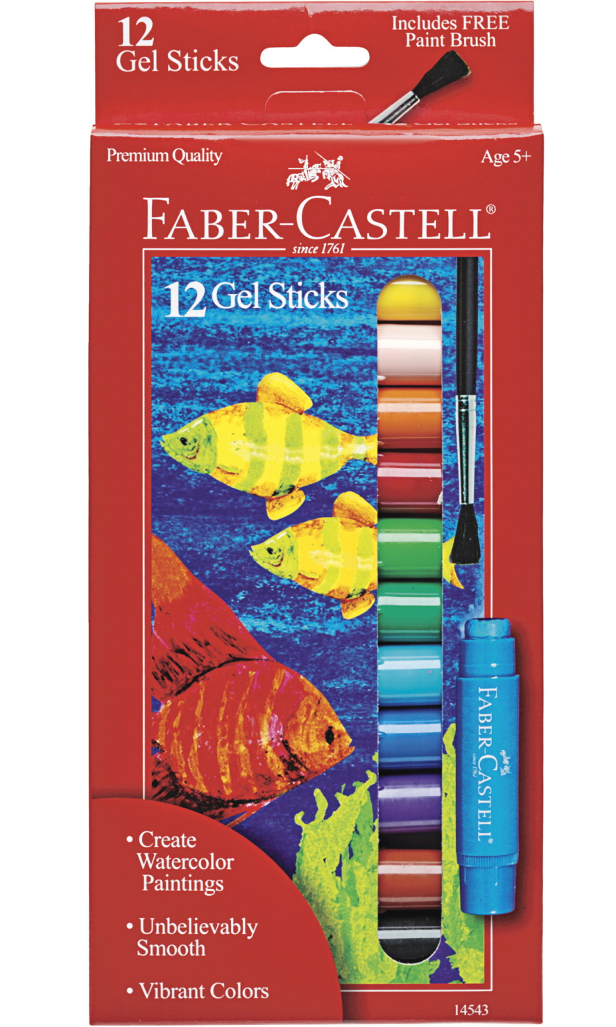 Faber-Castell Gel Sticks, Assorted Colors, Set of 12