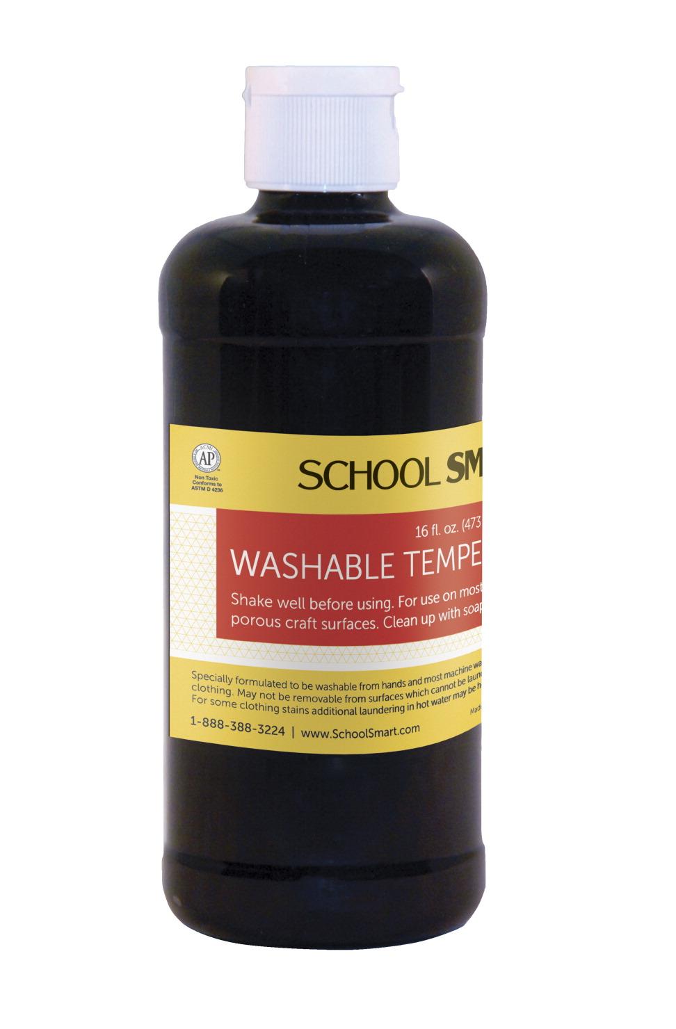 school smart tempera paint black school specialty. Black Bedroom Furniture Sets. Home Design Ideas