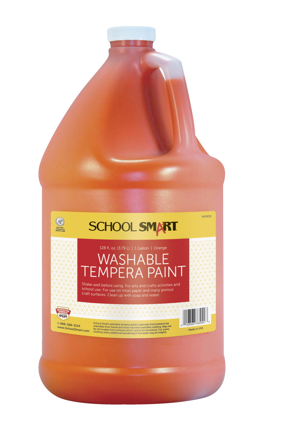 School Smart Tempera Paint Orange School Specialty Canada