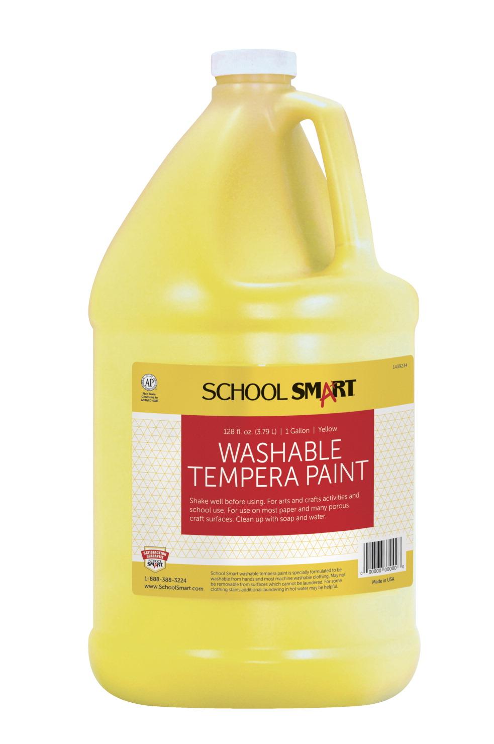 school smart tempera paint yellow school specialty. Black Bedroom Furniture Sets. Home Design Ideas