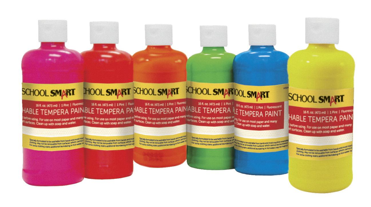 school smart non toxic washable tempera paint set 1 pt 1. Black Bedroom Furniture Sets. Home Design Ideas