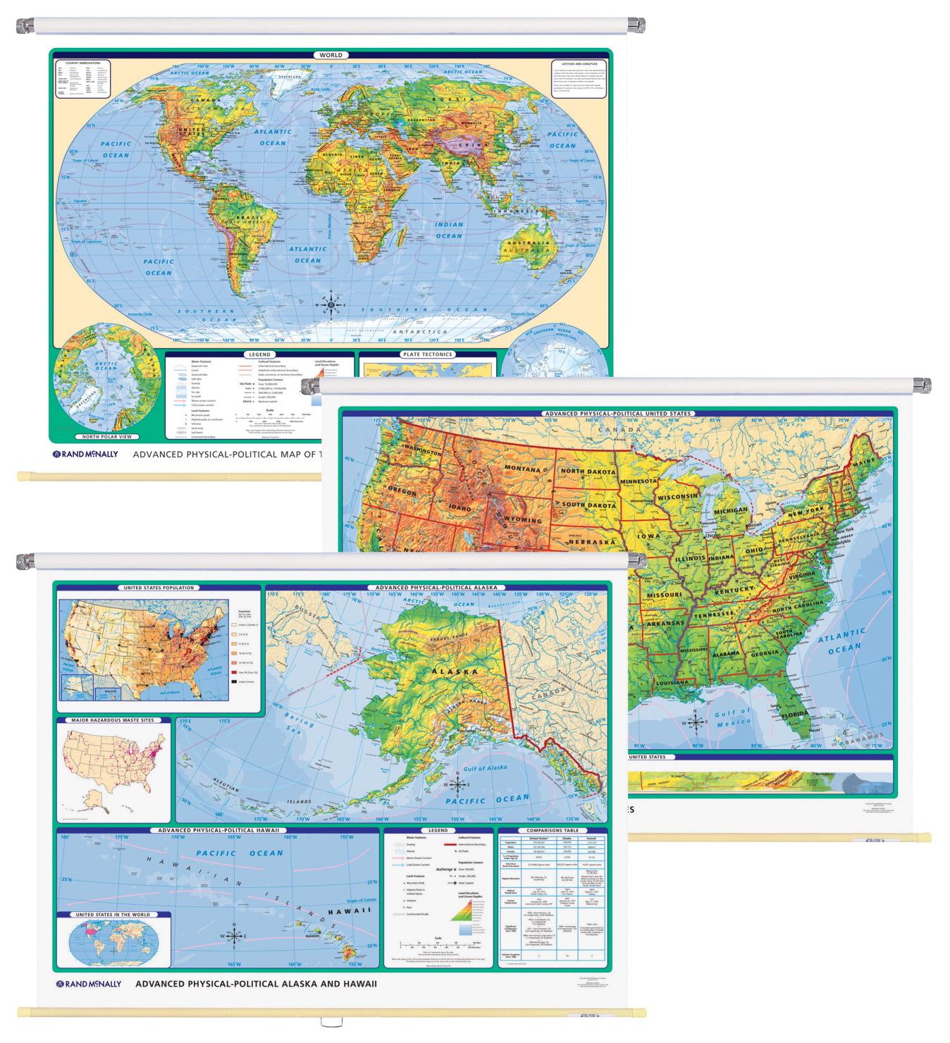 Wall Map Combo CLASSROOM DIRECT - Rand mcnally us wall map
