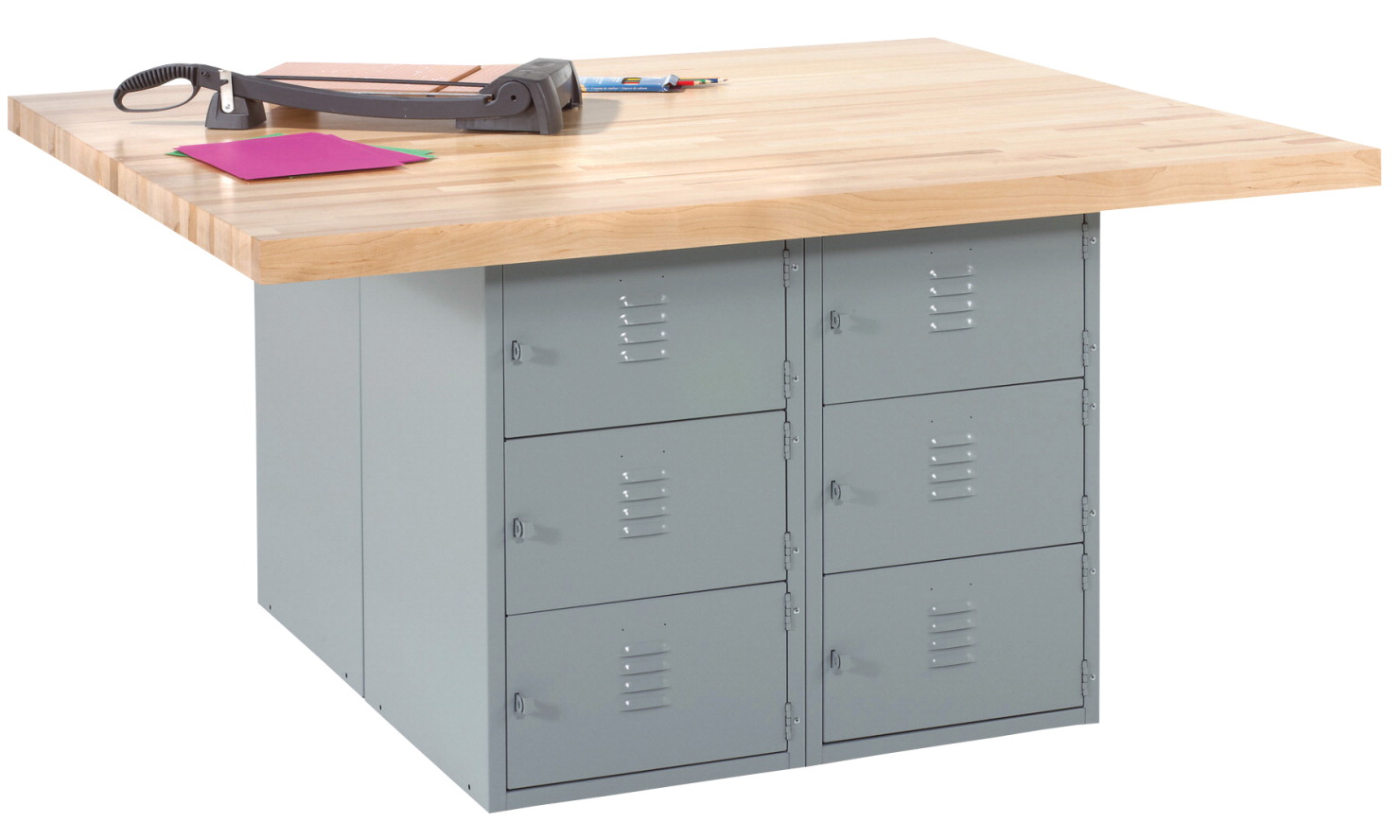 Diversified Woodcrafts 4 Station 12 Locker Workbench, 64 x 54 x 33-1/4 Inches, Various Options