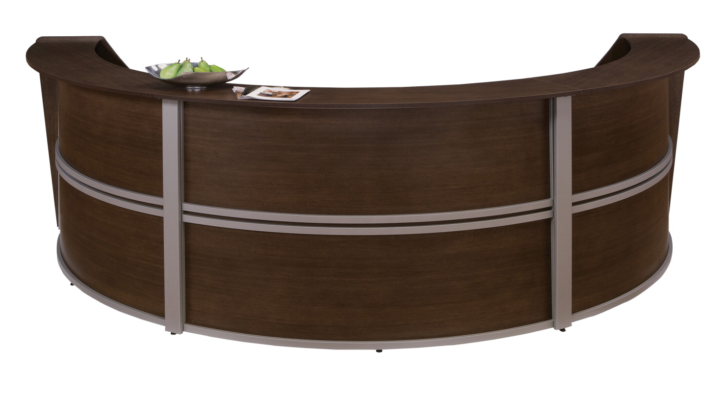 OFM Marque Curved Triple Reception Station, 1143-1/2 x 71 x 45-1/2 Inches, Various Options