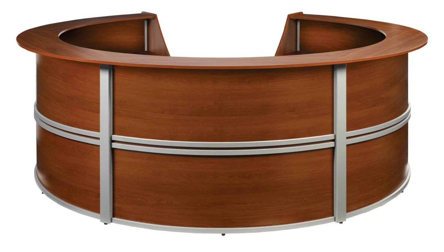 OFM Marque Curved 5 Unit Reception Station, 142 x 133 x 45-1/2 Inches, Various Options
