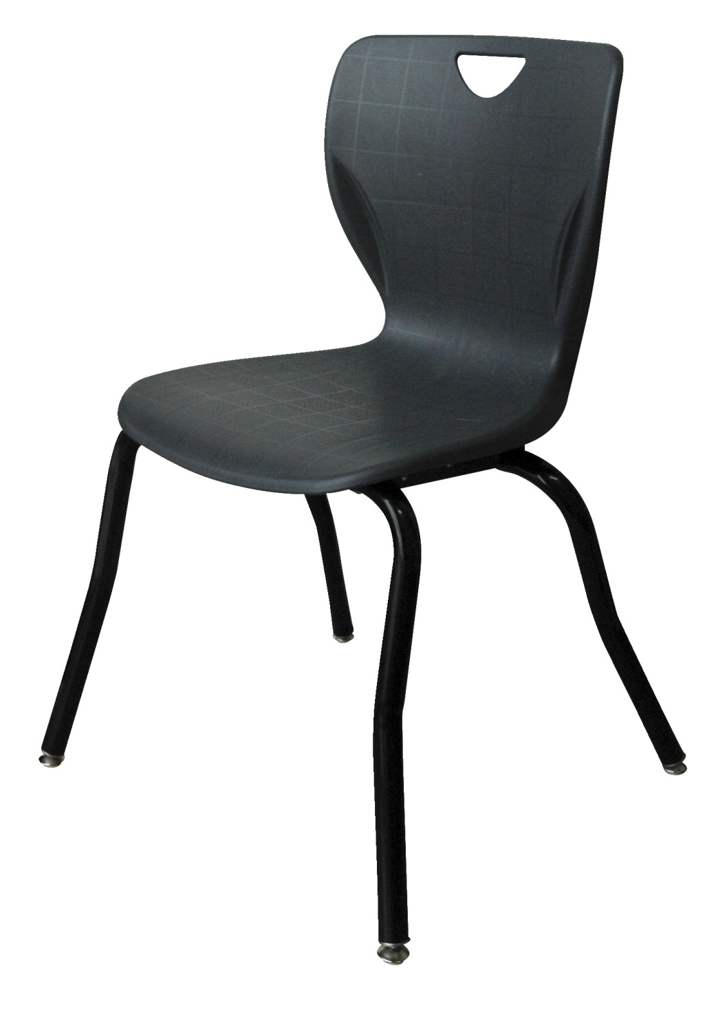 Classroom Select Contemporary Music Chair, 18 Inch A+ Seat Height, Black Frame, Various Options