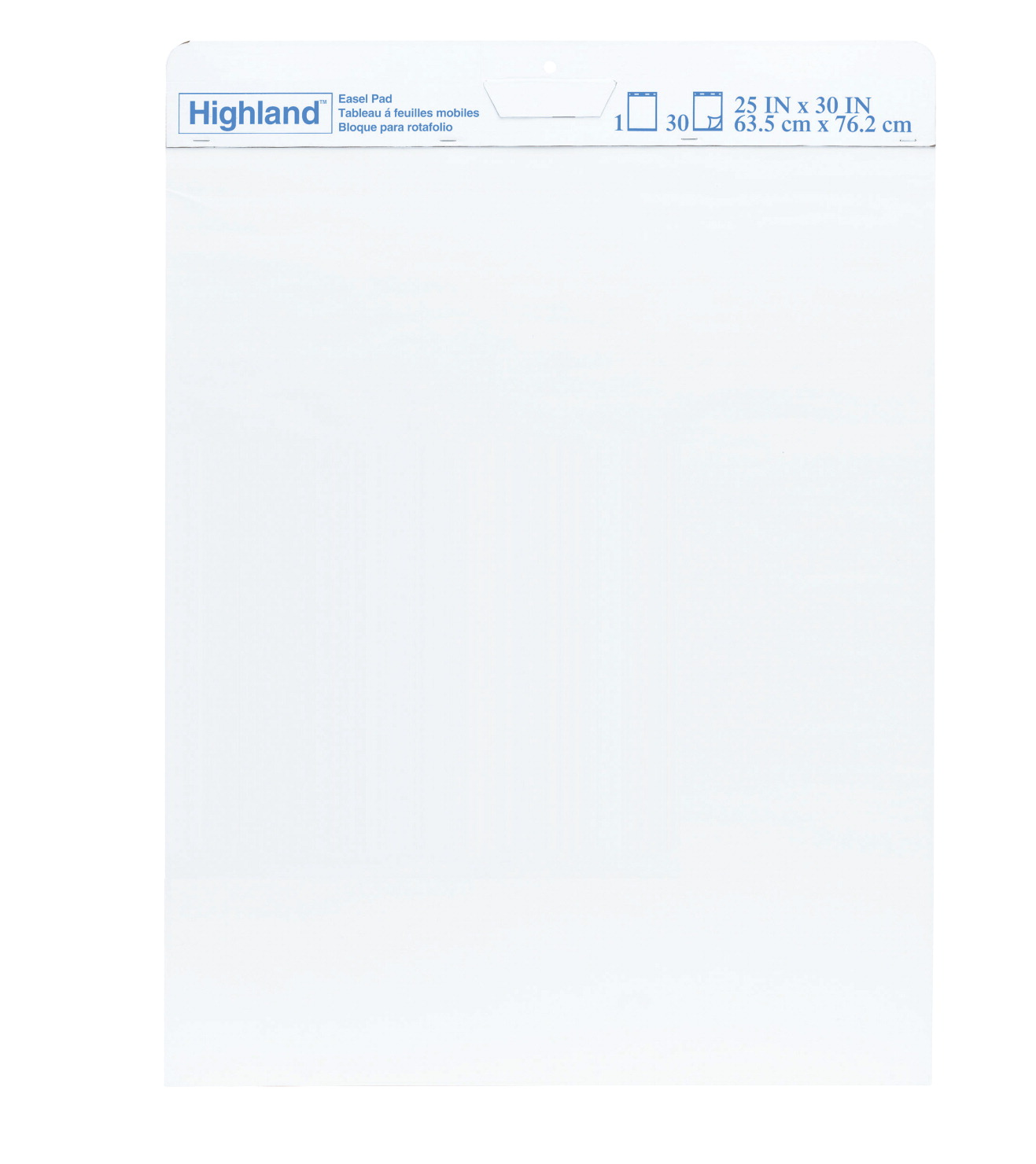 Highland Repositionable Easel Pad, 25 x 30 Inches, 30 Sheets, Pack of 6